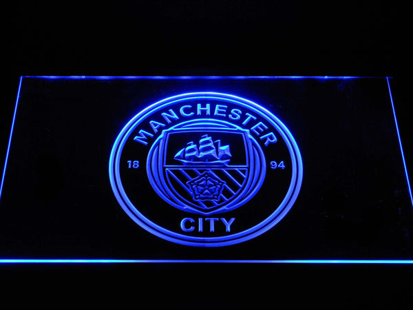 Manchester City Football Club LED Neon Sign b1376 - Blue