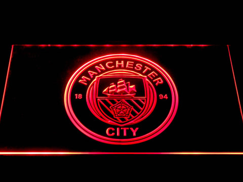 Manchester City Football Club LED Neon Sign b1376 - Red
