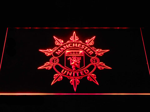 Manchester United Football Club Spokes LED Neon Sign b1377 - Red