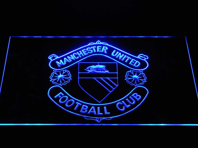 Manchester United Football Club LED Neon Sign b1379 - Blue