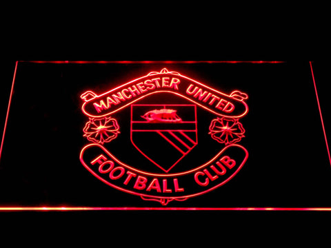 Manchester United Football Club LED Neon Sign b1379 - Red