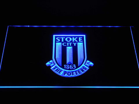 Stoke City FC Football LED Neon Sign b1383 - Blue