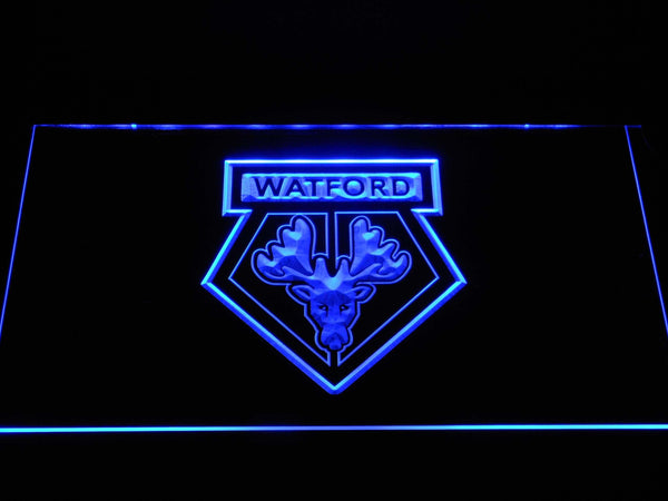Watford FC Football LED Neon Sign b1387 - Blue