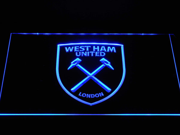 West Ham United FC LED Neon Sign b1389 - Blue