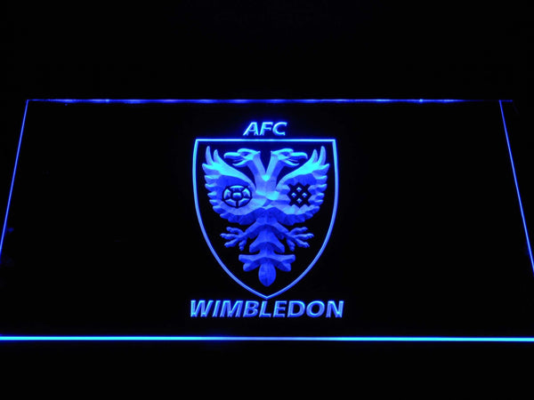 AFC Wimbledon FC LED Neon Sign b1392 - Blue