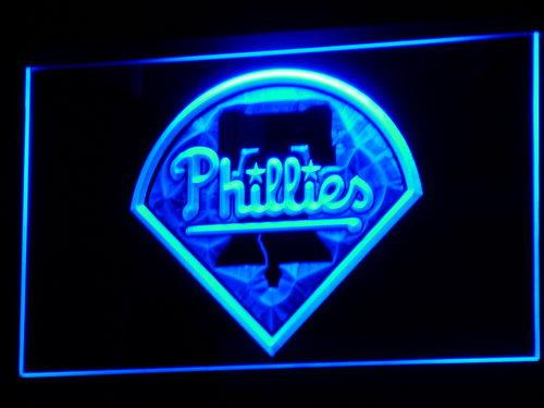 Philadelphia Phillies MLB LED Neon Sign b139 - Blue
