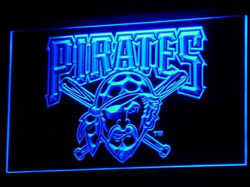 Pittsburgh Pirates MLB LED Neon Sign b140 - Blue