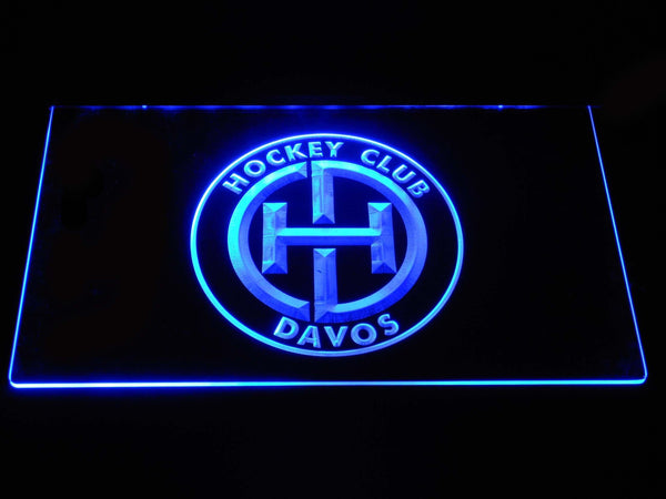 HC Davos NHL LED Neon Sign b1538 - Blue