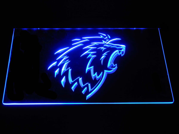 Lausanne HC Hockey LED Neon Sign b1542 - Blue