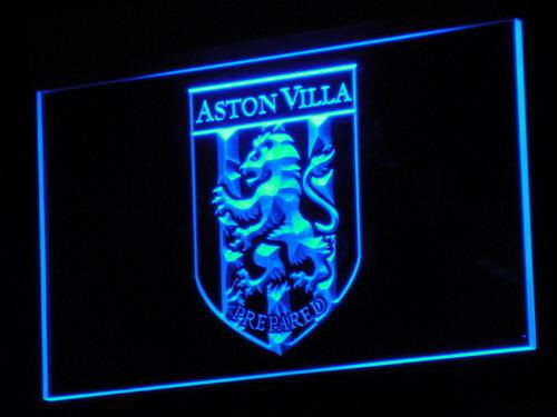 Aston Villa FC LED Neon Sign b204 - Blue