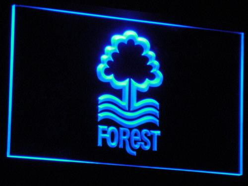 Nottingham Forest FC LED Neon Sign b246 - Blue