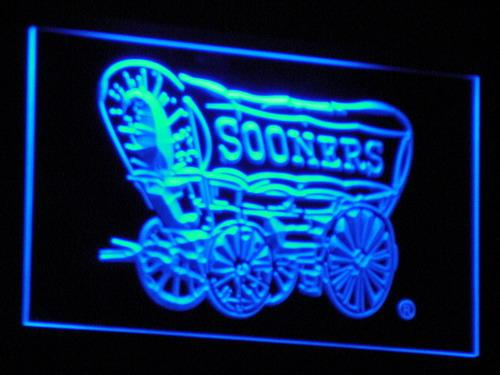 Oklahoma Sooners 1952-1966 LED Neon Sign b248 - Blue