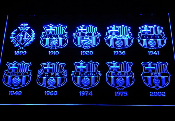 FC Barcelona Football LED Neon Sign b258 - Blue