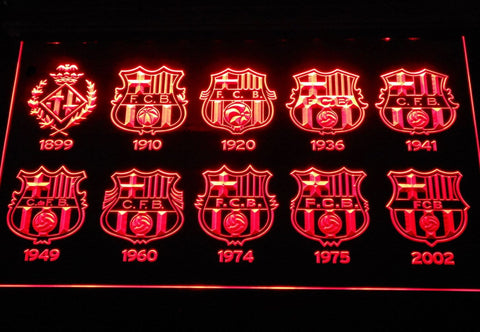 FC Barcelona Football LED Neon Sign b258 - Red