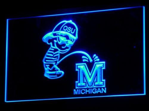 Ohio State Buckeyes Calvin LED Neon Sign b265 - Blue