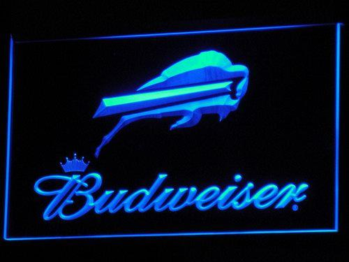 Buffalo Bills Budweiser LED Neon Sign b270 - Blue