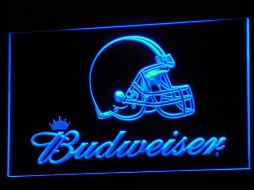 Cleveland Browns Budweiser LED Neon Sign b273 - Blue