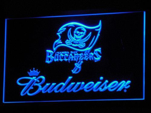 Tampa Bay Buccaneers Budweiser LED Neon Sign b288 - Blue
