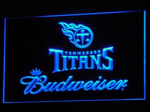 Tennessee Titans Budweiser NFL LED Neon Sign b289 - Blue