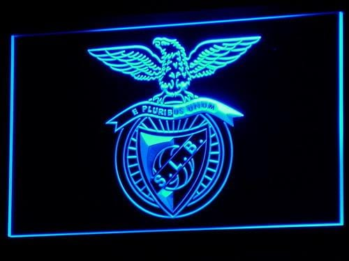 SL Benfica Lisbon Football LED Neon Sign b306 - Blue