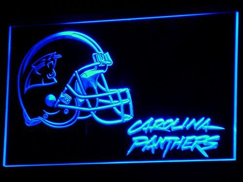 Carolina Panthers Helmet NFL LED Neon Sign b314 - Blue