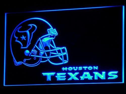 Houston Texans Football LED Neon Sign b321 - Blue