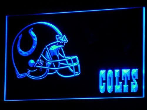 Indianapolis Colts Helmet LED Neon Sign b322 - Blue