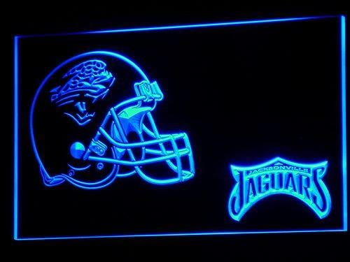 Jacksonville Jaguars Helmet LED Neon Sign b323 - Blue