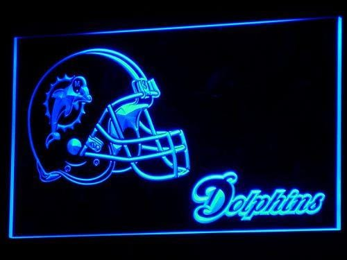 Miami Dolphins Helmet LED Neon Sign b325 - Blue
