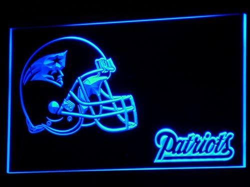 New England Patriots Helmet LED Neon Sign b327 - Blue