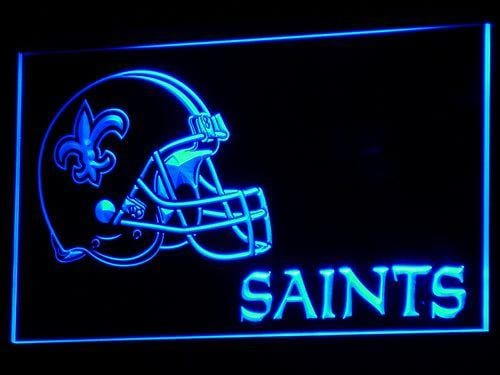 New Orleans Saints Football LED Neon Sign b328 - Blue