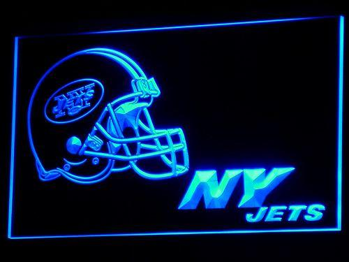 New York Jets Helmet LED Neon Sign b330 - Blue