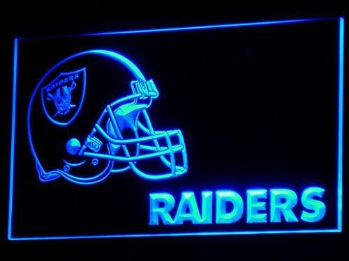 Oakland Raiders Helmet  LED Neon Sign b331 - Blue