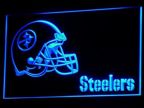 Pittsburgh Steelers Football LED Neon Sign b333 - Blue