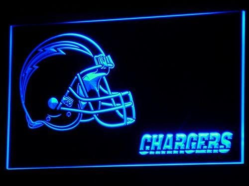 Los Angeles Chargers Helmet LED Neon Sign b334 - Blue