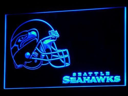 Seattle Seahawks Helmet LED Neon Sign b336 - Blue