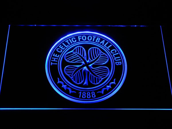Celtic FC Emblem LED Neon Sign b342 - Blue