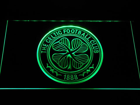 Celtic FC Emblem LED Neon Sign b342 - Green