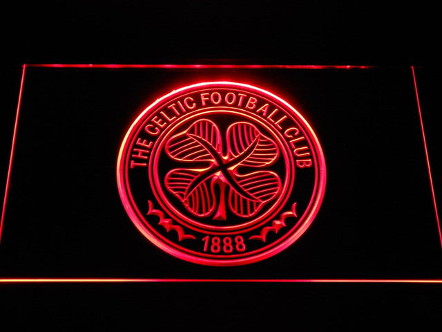 Celtic FC Emblem LED Neon Sign b342 - Red