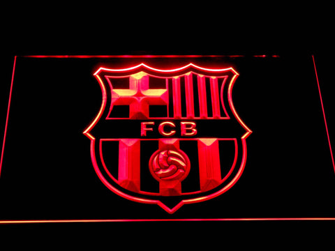 FC Barcelona Crest LED Neon Sign b344 - Red