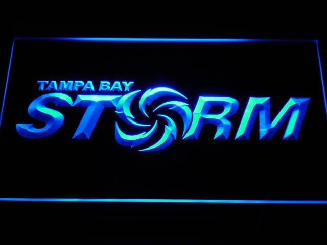 Tampa Bay Storm Football LED Neon Sign b370 - Blue