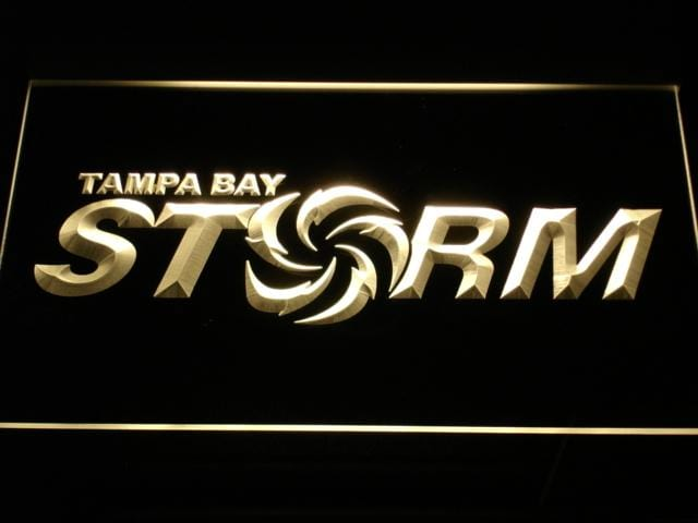 Tampa Bay Storm Football LED Neon Sign b370 - Yellow