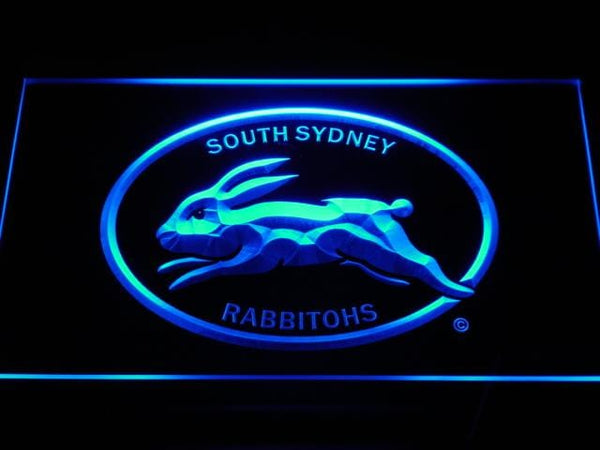 South Sydney Rabbitohs Rugby  LED Neon Sign b384 - Blue