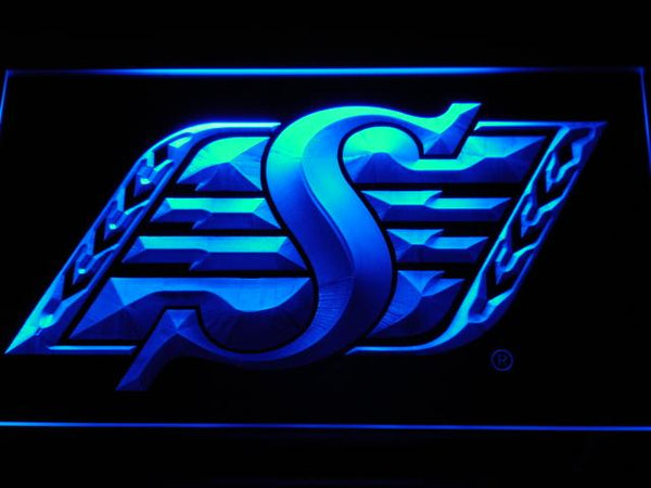 Saskatchewan Roughriders Football LED Neon Sign b418 - Blue
