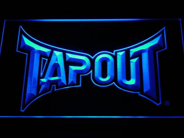 Tapout WWE LED Neon Sign b429 - Blue