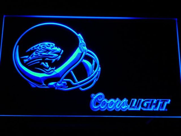 Jacksonville Jaguars Coors Light Helmet LED Neon Sign b464 - Blue