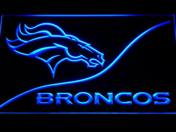 Denver Broncos Football LED Neon Sign b502 - Blue