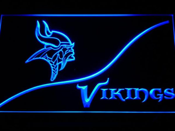Minnesota Vikings Split NFL LED Neon Sign b506 - Blue