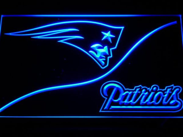 New England Patriots Split NFL LED Neon Sign b507 - Blue