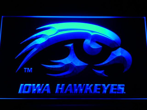 Iowa Hawkeyes Basketball LED Neon Sign b519 - Blue